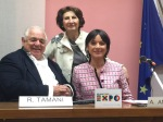 Il sindaco di Roverbella con Romano Tamani
