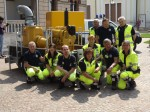 Il gruppo di volontari della Protezione Civile di Marmirolo