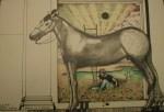 Dario, palazzo te-mantova -sala dei cavalli_1992-questo disegno fa parte di una serie di disegni eseguiti a palazzo te mn_20x15_