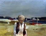 LONGFILS Sera - Ritorno a casa, olio su tela 80x100 XXII Premio Suzzara 1969 copia