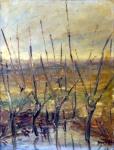 RINO LUPPI - Paesaggio 1958 olio su masonite